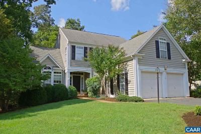 Charlottesville Single Family Home For Sale: 1178 River Chase Rdg
