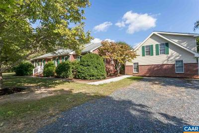 Fluvanna County Single Family Home For Sale: 2520 James Madison Hwy
