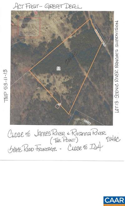 Fluvanna County Lots & Land For Sale: L0t 13 Stage Junction Rd