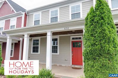 Charlottesville Townhome For Sale: 836 Cole St