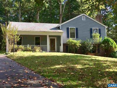 Charlottesville Single Family Home For Sale: 1805 Tinkers Cove Rd