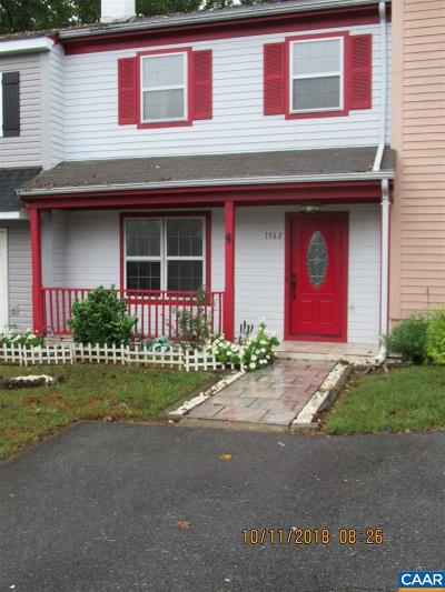 Charlottesville VA Townhome For Sale: $185,900