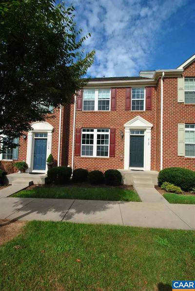 Albemarle County Townhome For Sale: 2162 Lockwood Dr
