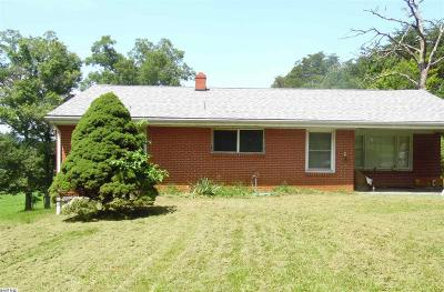 Staunton VA Single Family Home For Sale: $134,900