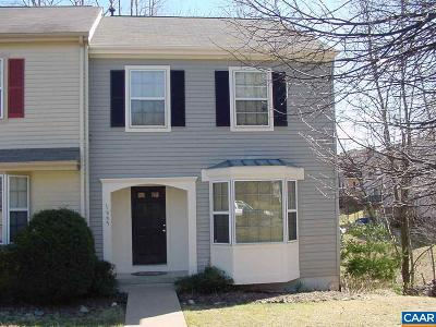 Albemarle County Townhome For Sale: 1665 Cool Spring Rd