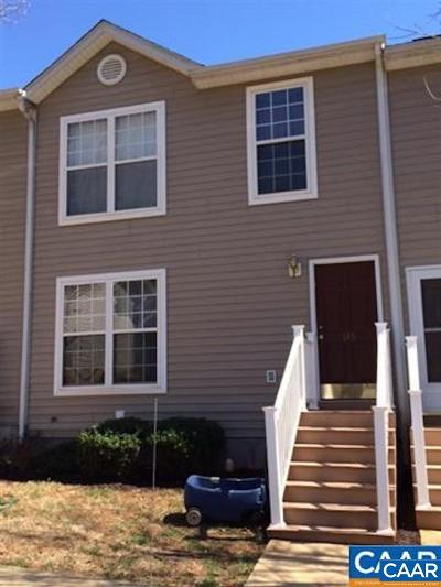 Charlottesville Townhome For Sale: 115 Hartford Ct