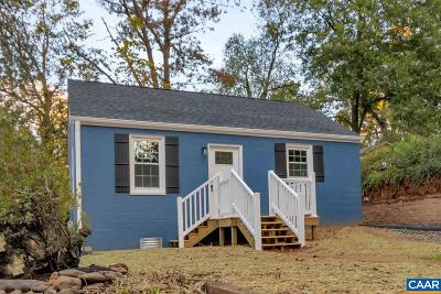 Charlottesville Single Family Home For Sale: 1631 Cherry Ave #1