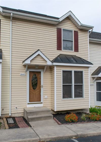 Harrisonburg, Mcgaheysville, Elkton, Bridgewater, Broadway Townhome For Sale: 2443 Avalon Woods Dr
