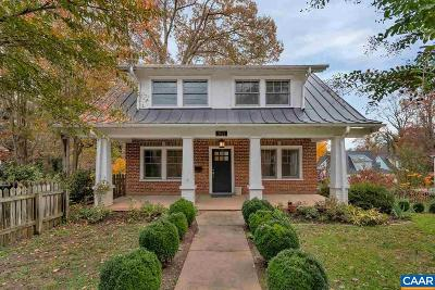 Charlottesville Single Family Home For Sale: 2622 Jefferson Park Ave