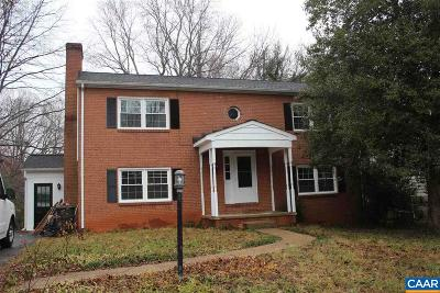 Charlottesville VA Single Family Home For Sale: $339,900