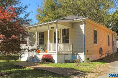 Charlottesville VA Single Family Home For Sale: $225,000