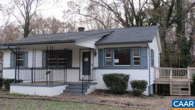Charlottesville VA Single Family Home For Sale: $214,200