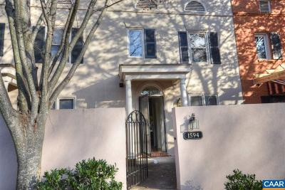 Charlottesville Townhome For Sale: 1594 Garden Ct
