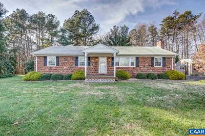Louisa Single Family Home For Sale: 1285 Mt Airy Rd