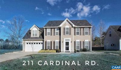 Louisa Single Family Home For Sale: 211 Cardinal Rd