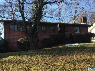 Charlottesville Single Family Home For Sale: 2417 Sunset Rd