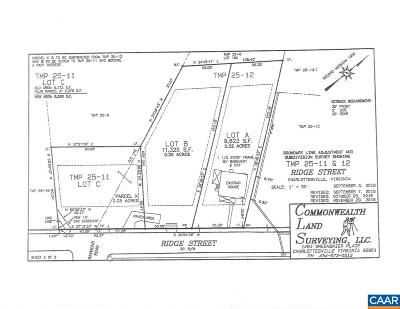 Charlottesville County Lots & Land For Sale: 00b Ridge St