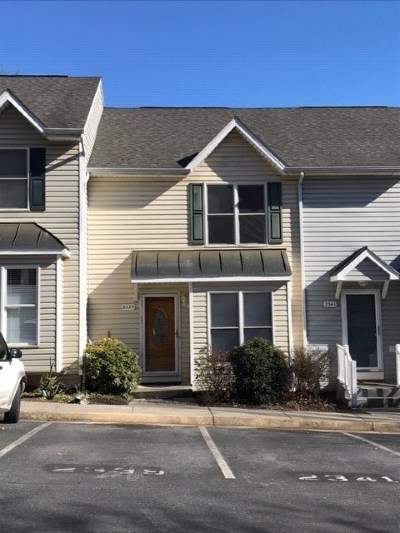 Harrisonburg Townhome For Sale: 2339 Avalon Woods Dr
