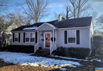 Charlottesville Single Family Home For Sale: 1530 Oxford Rd
