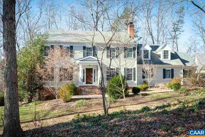 Charlottesville Single Family Home For Sale: 2380 Mill Ridge Rd