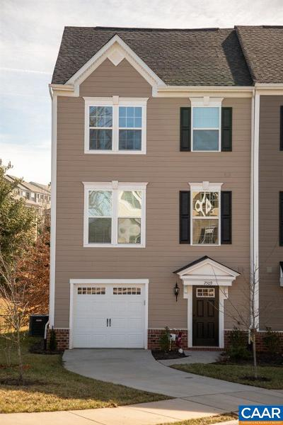 Charlottesville Townhome For Sale: 2509 Avemore Pond Rd