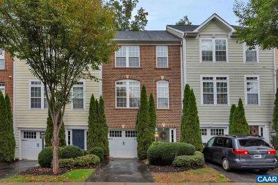 Charlottesville Townhome For Sale: 837 Rainier Rd