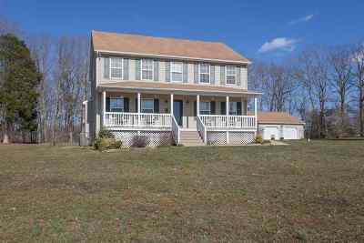 Palmyra Single Family Home For Sale: 589 Blue Ridge View Ln