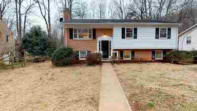 Charlottesville Single Family Home For Sale: 2746 McElroy Dr