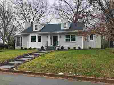 Charlottesville Single Family Home For Sale: 1600 Oxford Rd