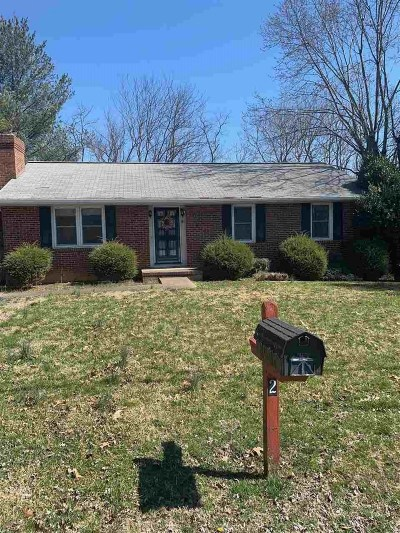 Augusta County Single Family Home For Sale: 2 Kenwood Dr