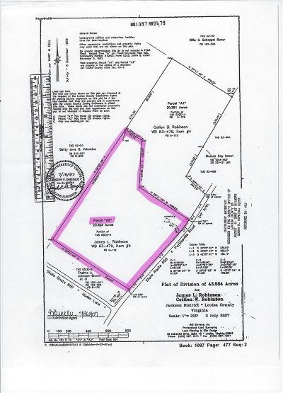 Louisa County Lots & Land For Sale: Pottiesville Rd