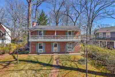 Charlottesville Single Family Home For Sale: 2622 Jefferson Park Cir
