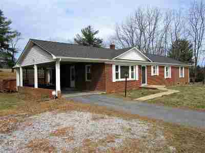 Staunton VA Single Family Home For Sale: $216,000