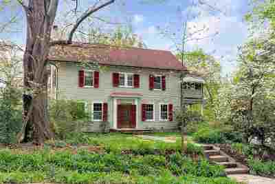 Charlottesville Single Family Home For Sale: 1400 Rugby Rd