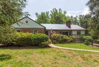 Charlottesville Single Family Home For Sale: 1612 Keith Valley Rd