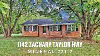 Louisa County Single Family Home For Sale: 1142 Zachary Taylor Highway