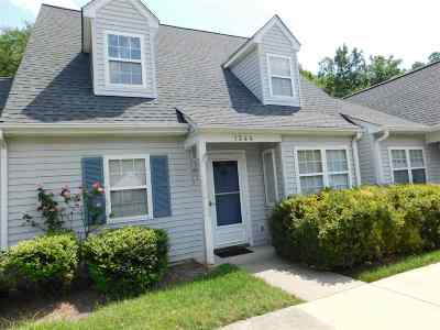 Charlottesville Townhome For Sale: 1344 Sycamore Ct
