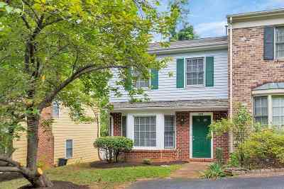 Charlottesville Townhome For Sale: 939 Huntwood Ln