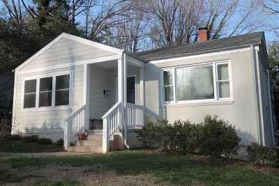 Charlottesville Single Family Home For Sale: 1600 Cambridge Cir