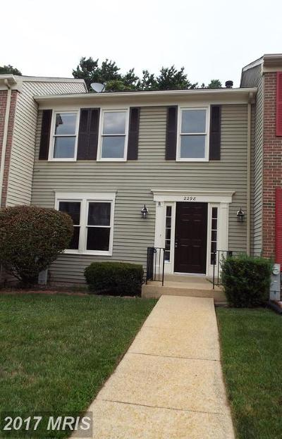 Odenton Townhouse For Sale: 2298 Canteen Circle