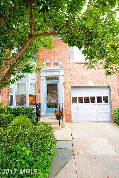 Annapolis Townhouse For Sale: 1009 Boom Court