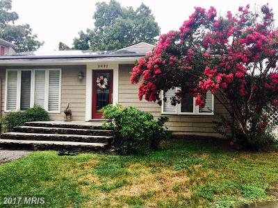 Anne Arundel Single Family Home For Sale: 3932 Cove Road