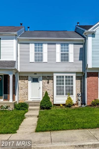 Odenton Townhouse For Sale: 140 Militia Place