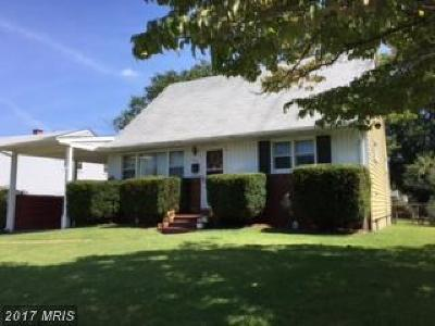 Glen Burnie Single Family Home For Sale: 703 Carolyn Road