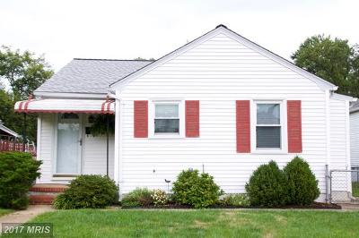 Glen Burnie Single Family Home For Sale: 313 N Street SE