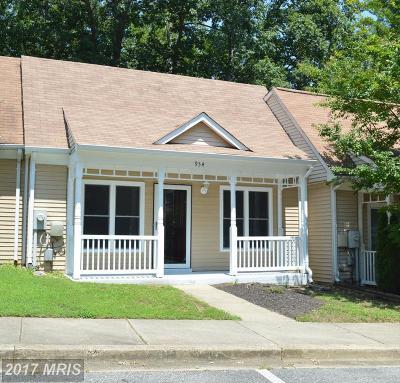 Annapolis Townhouse For Sale: 934 Riversedge Circle