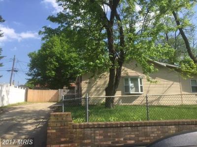 Glen Burnie Single Family Home For Sale: 1813 Lansing Road