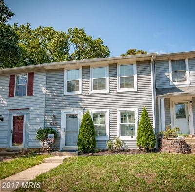 Annapolis Townhouse For Sale: 314 Wood Hollow Court