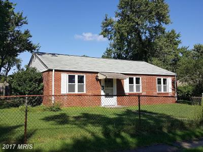 Glen Burnie Single Family Home For Sale: 1039 Thomas Road