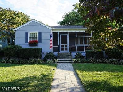Annapolis Single Family Home For Sale: 725 Melrose Street